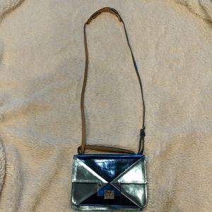 Jimmy Choo Crossbody & Handle Shiny Blue Handbag